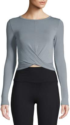 Alo Yoga Twisted Cover Crop Top
