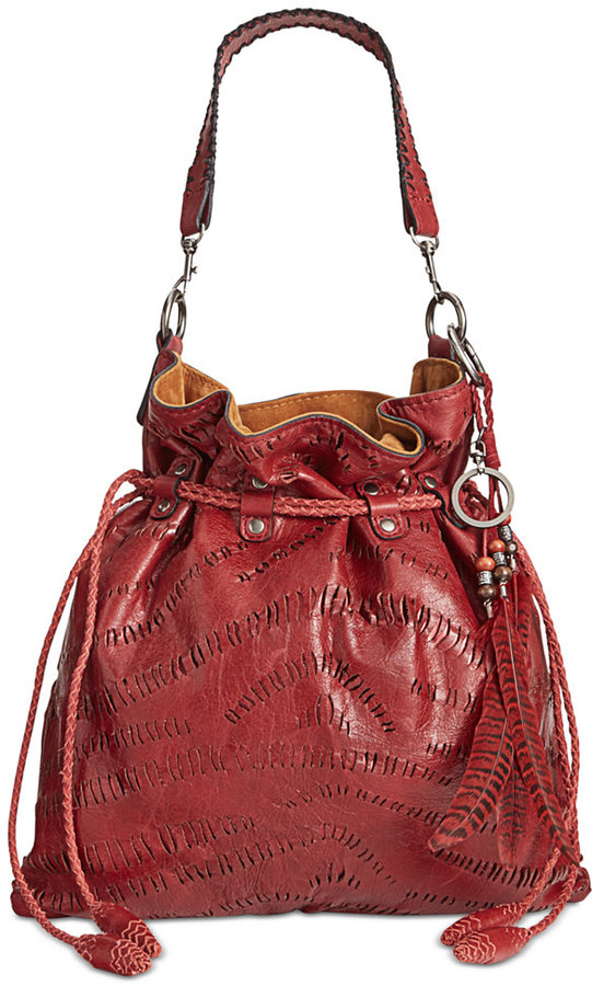 Patricia Nash Shredded Washed Leather Cafarelli Crossbody Hobo