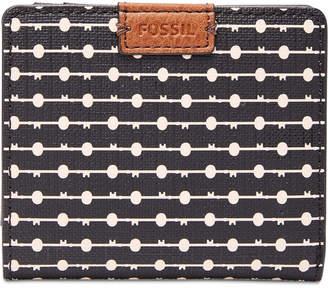 Fossil Emma Rfid Printed Bifold Mini Wallet