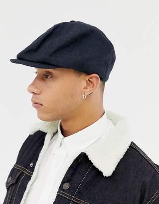 dd727f3b Asos Design DESIGN baker boy hat in navy texture
