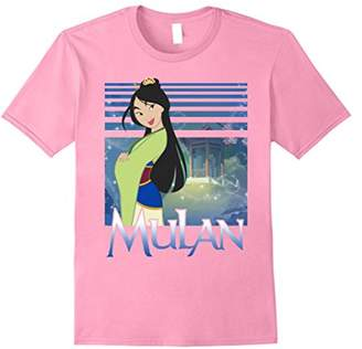 Disney Mulan Green Dress Sparkles Graphic T-Shirt