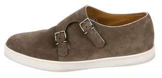 John Lobb Suede Double Monk Strap Sneakers