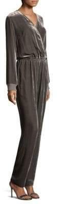 St. John Surplice Velvet Jumpsuit