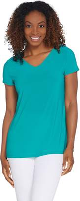 Women With Control Attitudes by Renee Como Jersey V-Neck Knit Top