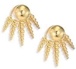 Nikos Koulis Spectrum 18K Yellow Gold Ear Jacket& Stud Earrings Set
