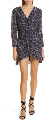 Robert Rodriguez Lily Floral Print Ruched Dress