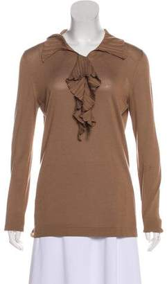 Hermes Silk Collar Sweater