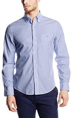 Gant Men's The Broadcloth Banker Stripe Slim Fit Button Down Shirt