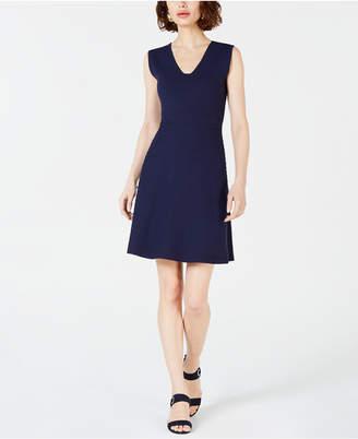 Maison Jules Sleeveless Sweater Fit & Flare Dress