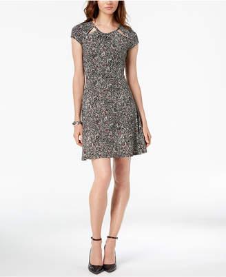 Michael Kors Printed Keyhole Dress, In Regular & Petite Sizes