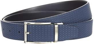 Canali Diamond Embossed Reversible Belt