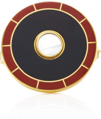 Monica Sordo Brujo Orbit 24K Gold-Plated Brass Mother Of Pearl Cuff