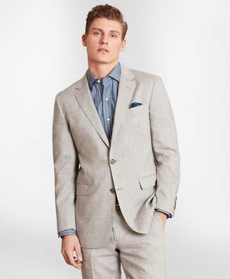 Brooks Brothers Milano Fit Linen Blend 1818 Suit