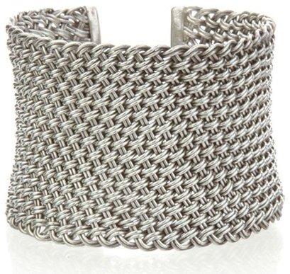 Satya Jewelry Silver Woven Dreamweaver Cuff