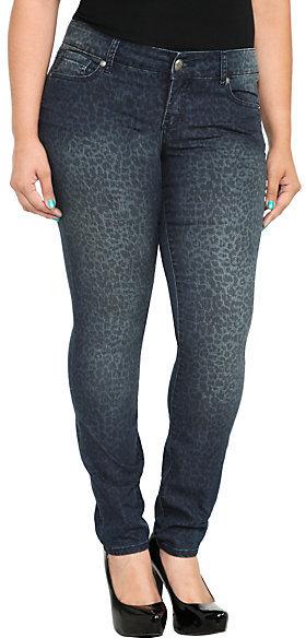 Torrid Denim - Leopard Print Skinny Jeans
