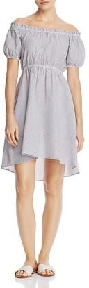 AQUA Striped Off-the-Shoulder Dress - 100% Exclusive $88 thestylecure.com