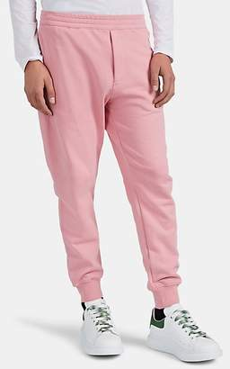 Alexander McQueen Men's Skull-Appliquéd Cotton Sweatpants - Pink