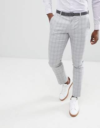 Selected Skinny Fit Suit PANTS In Gray Check