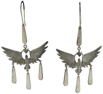 One Kings Lane Vintage Sterling Mexican Mask Earrings - Thanks for the Memories