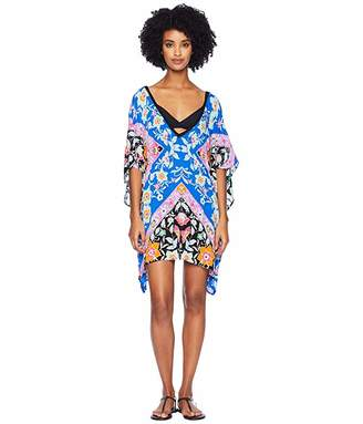Nanette Lepore Flower Bomb Scarf Caftan Cover-Up