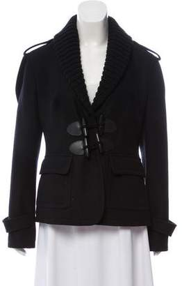 Burberry Wool Knit-Accented Jacket