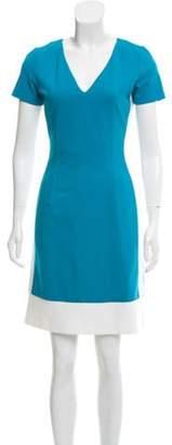 Prada Contrast Trim Mini Dress Blue Contrast Trim Mini Dress