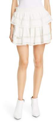LoveShackFancy Tiered Ruffle Miniskirt