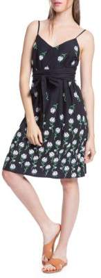 Plenty by Tracy Reese Tie Waist Cotton Slip Dress
