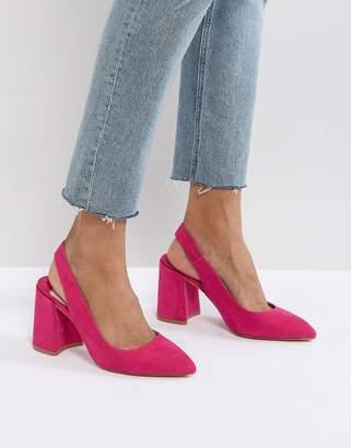 Faith Chunky Slingback Block Heeled Shoes