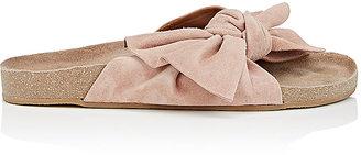 Ulla Johnson Women's Ingrid Suede Slide Sandals $330 thestylecure.com