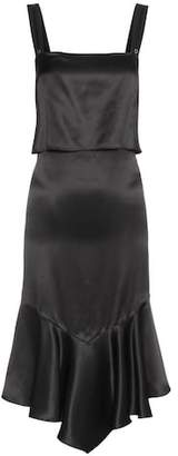 Givenchy Ruffled silk slip dress