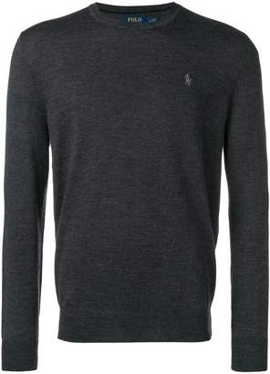 Polo Ralph Lauren logo fitted sweater