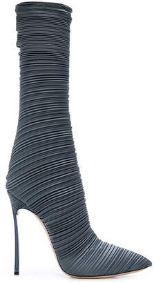 Casadei pointed pleated boots