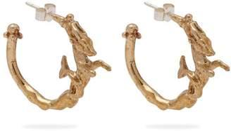 Joanne Burke - Little Ships Hoop Earrings - Womens - Gold
