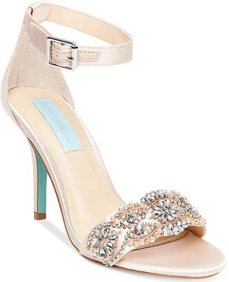 Betsey Johnson Blue By Gina Embellished Evening Sandals Women Shoes