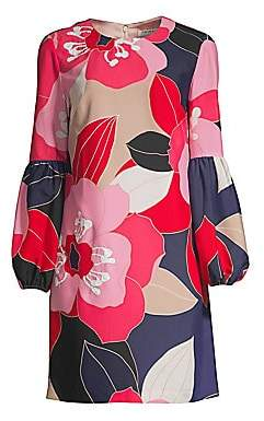 Trina Turk Women's Floral Puff-Sleeve Shift Dress - Size 0
