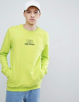 Helly Hansen Sweet Sktbs Sweet SKTBS x Sweat With Back Logo In Neon Yellow