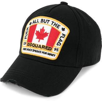 6c84cb8ad2776 DSQUARED2 Canadian flag patch baseball cap