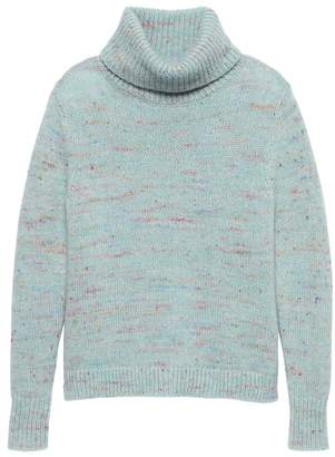 Banana Republic Petite Confetti Wool-Blend Turtleneck Sweater