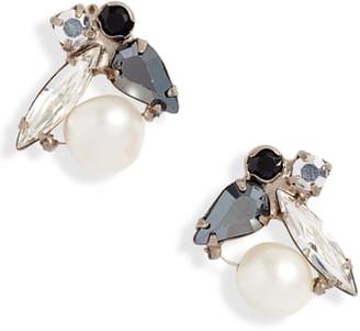 Sorrelli Elisa Crystal & Pearl Cluster Earrings