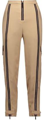 Belstaff Woodacomb Zip-Embellished Crepe Tapered Pants