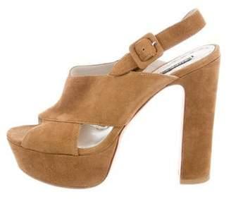 Alice + Olivia Platform Suede Sandals