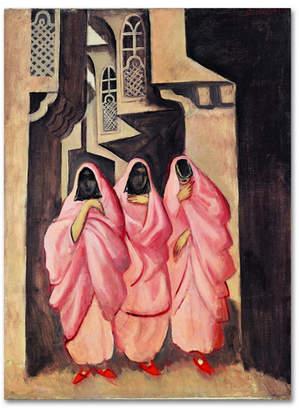 "aquagirl (アクアガール) - Joseph Grosvalds 'Three Women On The Street Of Baghdad' Canvas Art - 19"" x 14"" x 2"""
