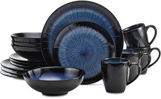 Mikasa Reed Teal 16-Pc. Dinnerware Set, Service for 4