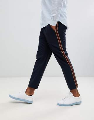 New Look smart joggers with side stripe in navy