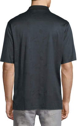 Bugatchi Mercerized-Knit Polo Shirt, Charcoal