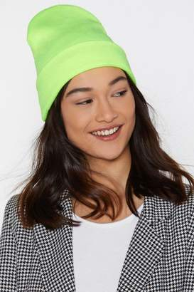 Nasty Gal Rave It Up Neon Beanie