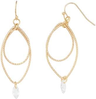 Lauren Conrad Gold Tone Crystal Drop Earrings