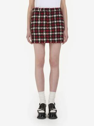 McQ Check Belted Mini Skirt