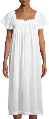 Celestine Antigone Cap-Sleeve Long Nightgown
